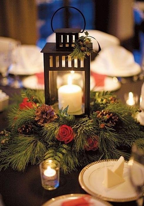 Создать новогоднее настроение возможно благодаря удачному дизайнерскому решению.