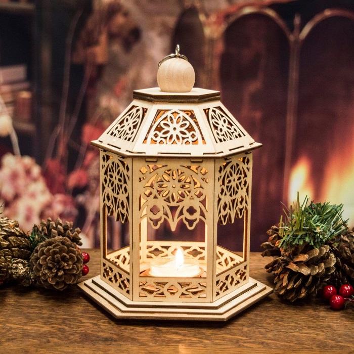 Отличное решение создать новогоднее настроение с помощью новогоднего фонаря.