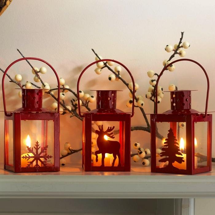Оригинальный пример создания новогодней сказки благодаря рождественскому фонарю.