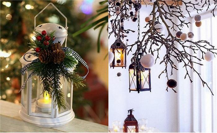 Прекрасные примеры рождественских украшений.