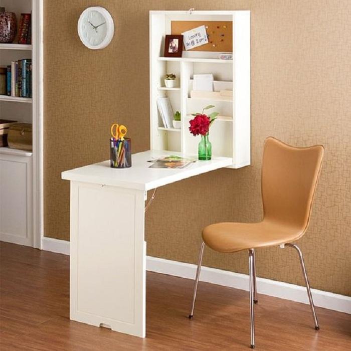 Отменный интерьер мини-офиса, который создаст уютную обстановку.