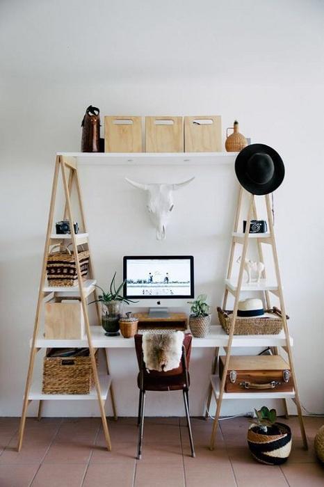 Просто хороший вариант создать оптимальную обстановку в комнате и облагородить её самостоятельно для комфортной работы.