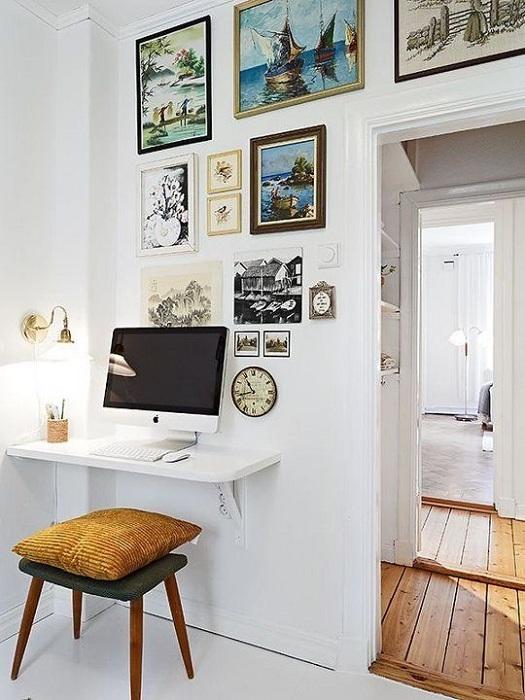 Интересный вариант оформления домашнего мини-офиса, который станет просто открытием.