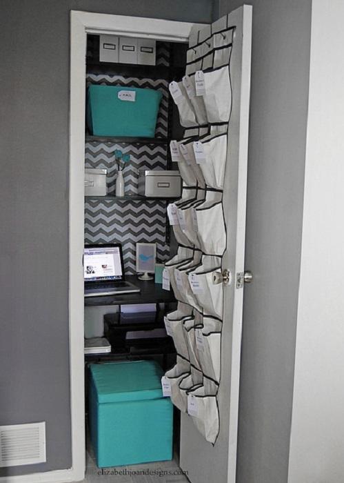 Мини-офис призван сэкономить полезную площадь в доме по максимуму.