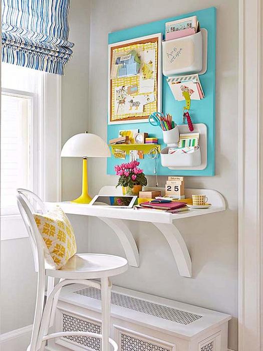 Оформление мини-офиса в домашних условиях, позволит с пользой использовать пространство комнат.