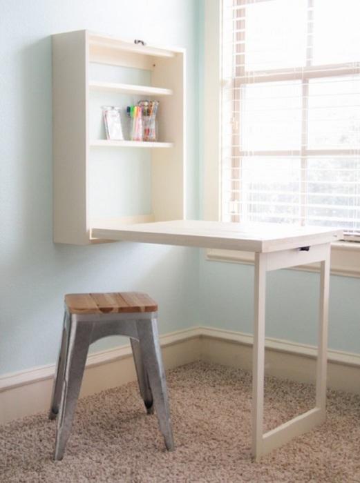 Просто отличный вариант оформления мини-офиса дома, что позволит создать комфортную обстановку для работы.