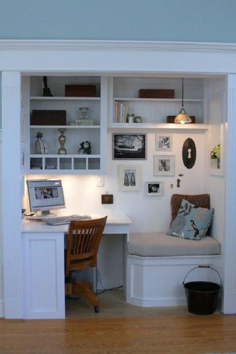 Оптимальное решение для оформления мини-офиса при помощи создания оригинального интерьера.