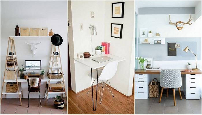 Примеры оформления мини-офисов в доме.