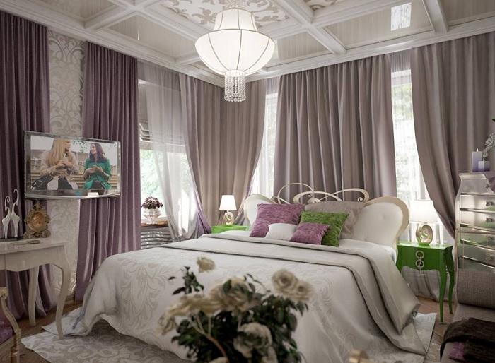 Отличный вариант оформления спальной в нежных тонах, что позволит создать оптимальную и легкую атмосферу для отдыха.