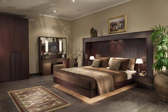 Богатые кофейные цвета станут просто оптимальным вариантом для благоприятного оформления пространства в комнате для отдыха.
