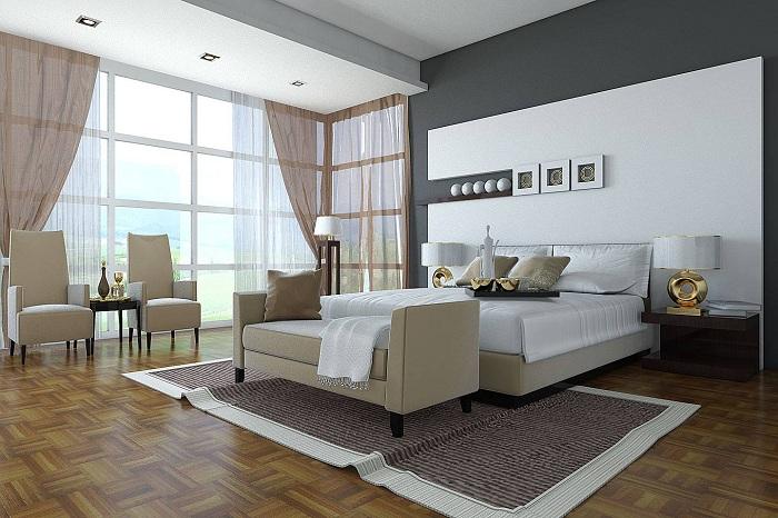 Легко возможно проследить четкость линий при создании этого интересного дизайна спальни, которая точно понравится.