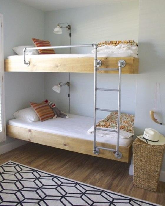 Оптимальное решение для оформления маленьких пространств в детской спальной.