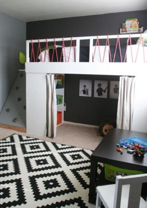 Отменный интерьер детской станет просто особенным классическим решением для преображения подобной комнаты.