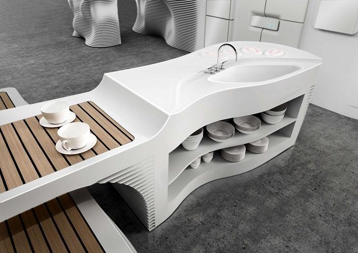 Потрясающее оформление кухни в современном стиле, что станет просто оптимальным решением для декорирования.