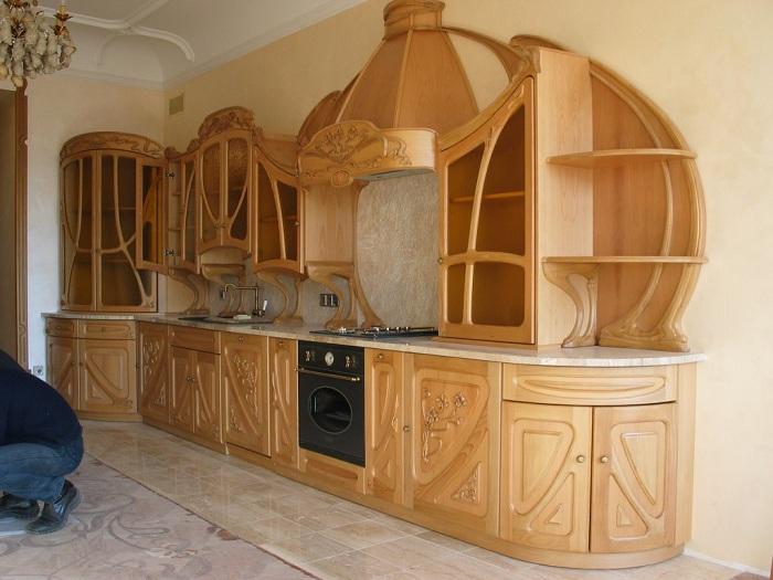 На такой кухне всегда тепло и уютно