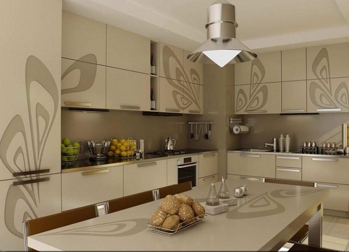 Кухня в пастельных тонах.