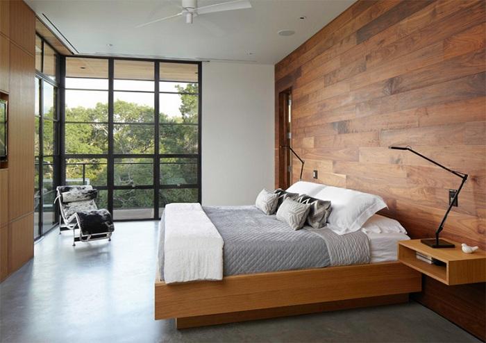 Практичные и симпатичные бра с обеих сторон кровати, очень удачное дополнение для спальни.