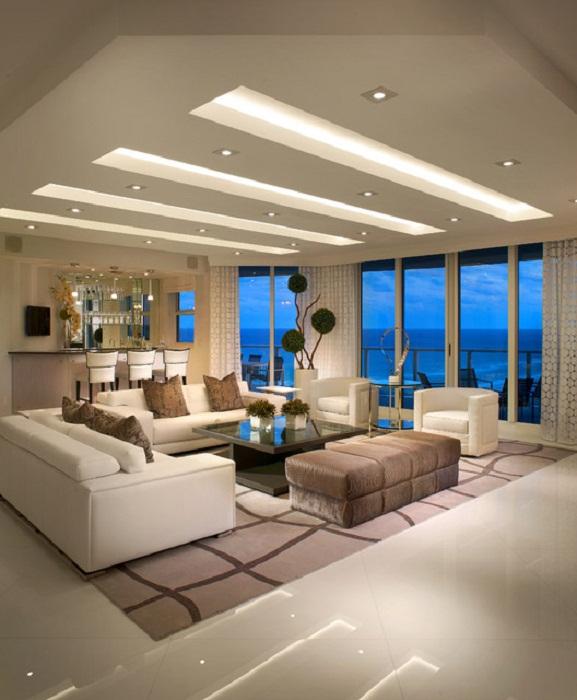 Шикарный стиль в котором оформлена гостиная станет просто особенностью в декорировании дома при помощи правильного подбора цветовой гаммы.