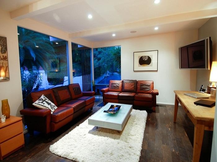 Симпатичный и очень крутой интерьер гостиной, что станет просто особенностью и изюминкой декора любого дома.