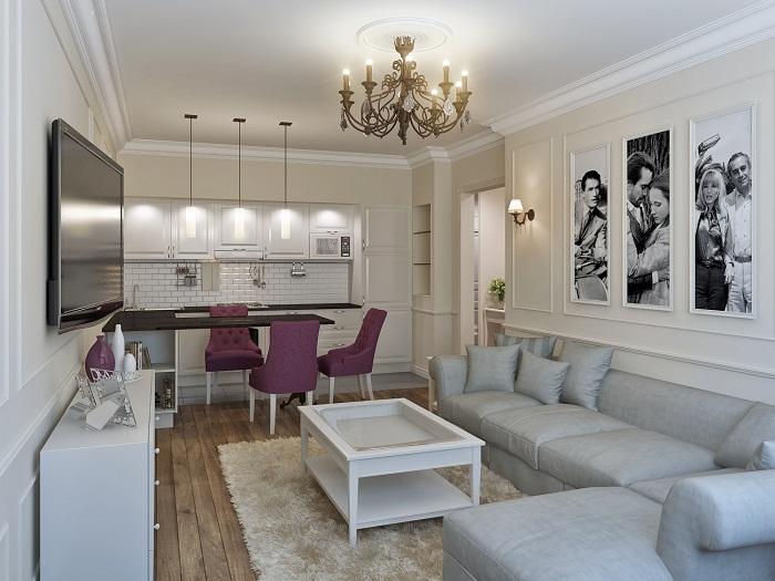 Отличное решение для оформления гостиной в светлых тонах, что станет просто одним из самых лучших решений, что понравится однозначно.