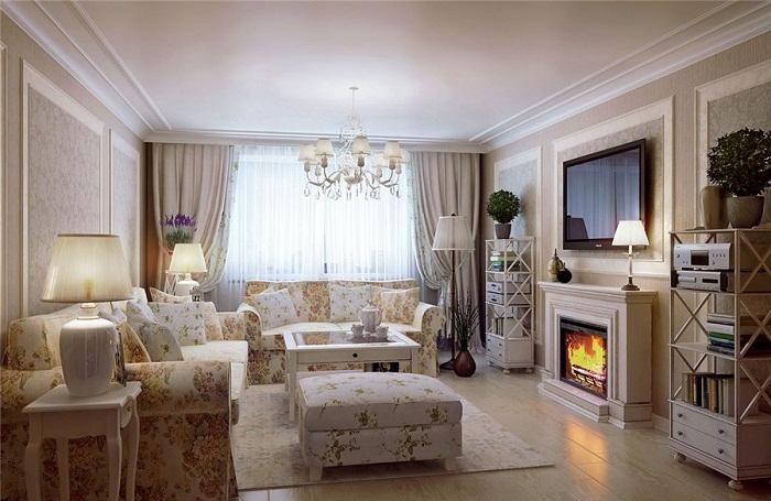 Оформить гостиную возможно очень даже креативно при помощи мебели, которая выглядит очень круто благодаря необычным принтам на ней.