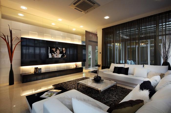 Декорирование комнаты в черно-белых тонах, то что поистине оценят любители классики, во всех её проявлениях.