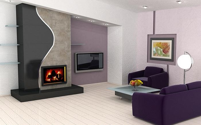 Интересный интерьер гостиной, что станет просто открытием и пожалуй одним из самых лучших решений в декорировании комнат такого плана.