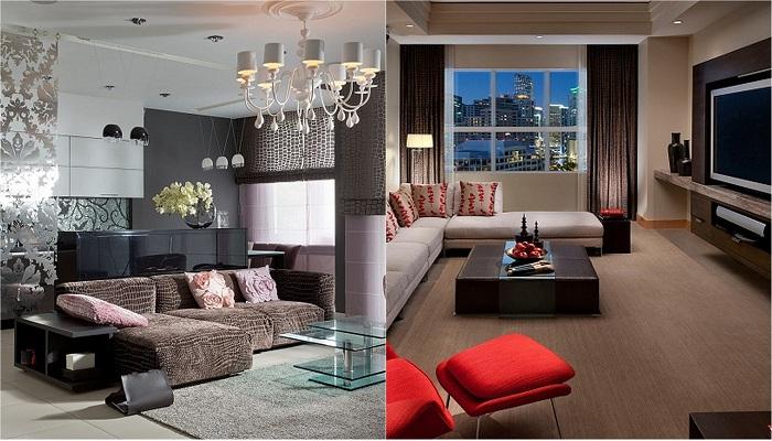 Оригинальные примеры декорирования гостиной, что не оставят никого равнодушным.