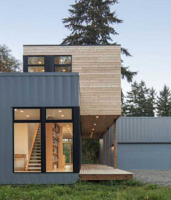 Прекрасный панельный дом возведенный в штате Вашингтон.