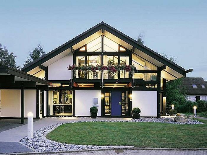 Необычный быстровозводимый дом со сводчатым потолком - прекрасен и практичен.