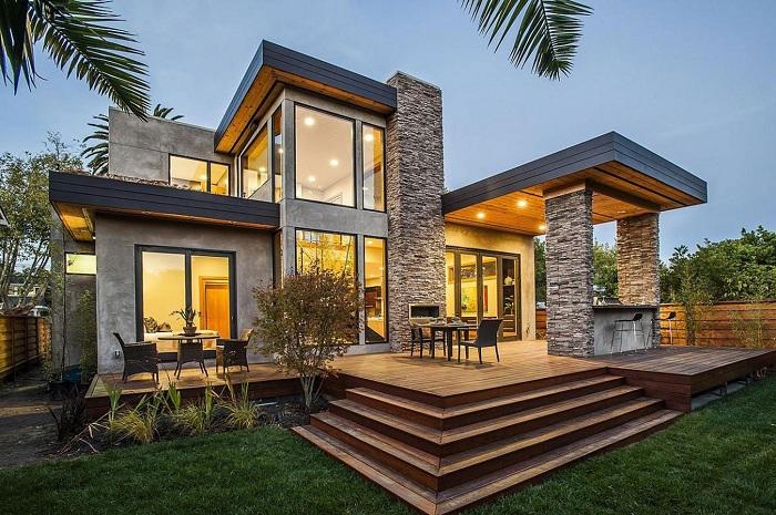 Простой и одновременно изысканный дом построен в одном из пригородов Сан-Франциско.