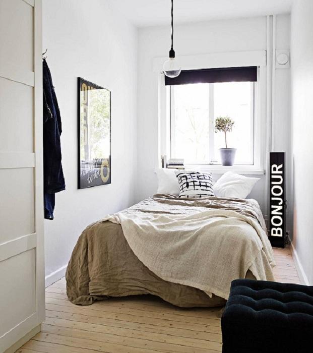 Хороший вариант оформления мини-спальной, что точно понравится и создаст определенный уют.