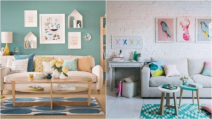 Прекрасные примеры интерьера комнат в мятном цвете.
