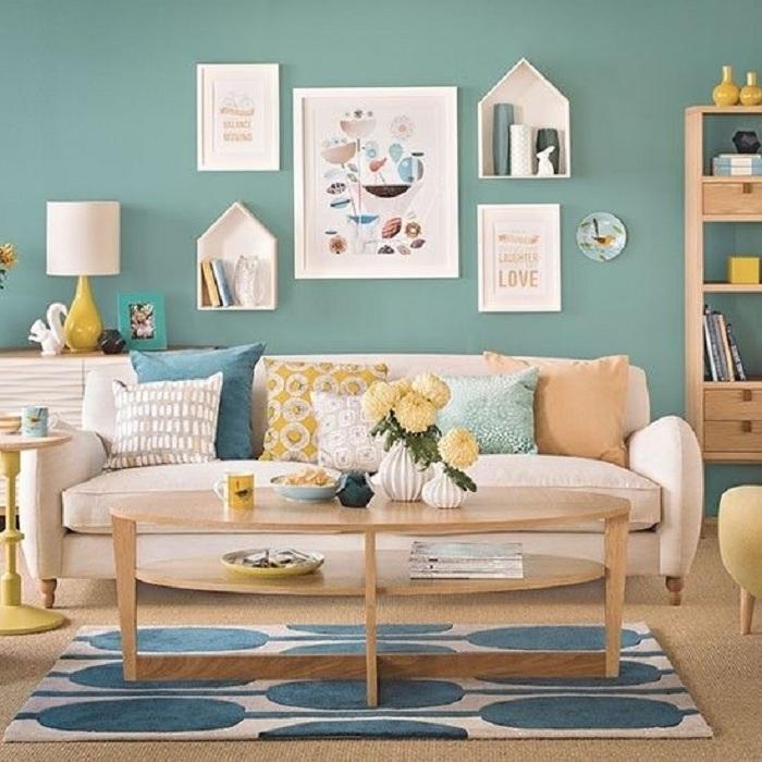 Сочетание мятного цвета с другими цветами в интерьере комбинированные