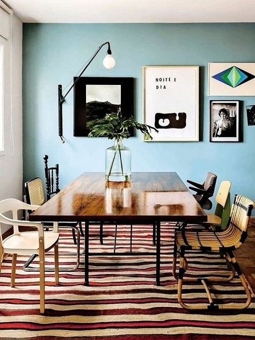 Комната с использованием основного фона с мятным цветом - прекрасное решение для каждого современного человека.