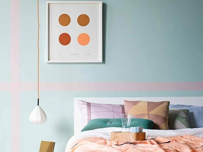 Легкая отделка мятным цветом - решение для личностей, который желают просыпаться с настроением.