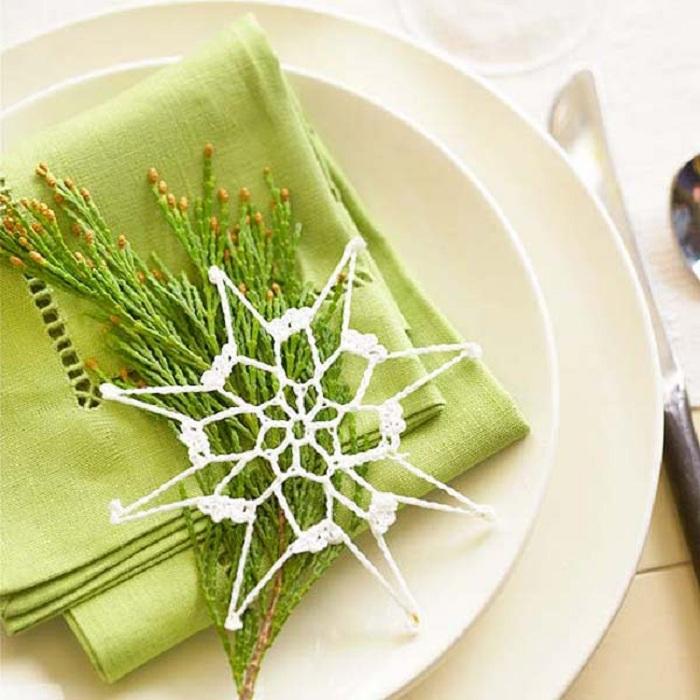 Симпатичное оформление салфеток на Рождество.