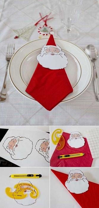Салфетки, которые украсят любой стол в рождественские деньки.