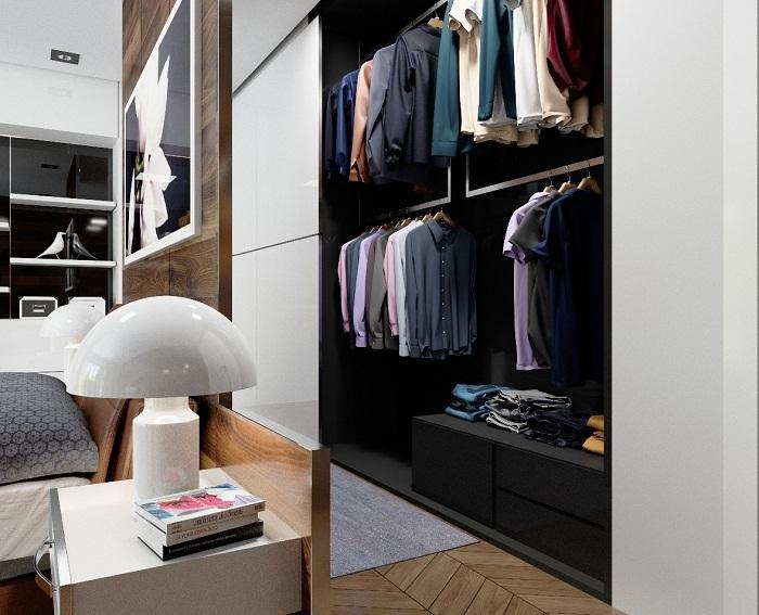 Отменное оформление шкафа встроенного в стену, что понравится и преобразит любой интерьер.