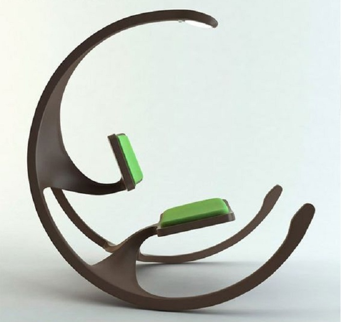 Яркий пример оформления интерьера нестандартно при помощи такого интересного стула.