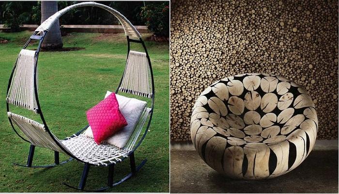 Необычные идеи оформления стульев в декоре.