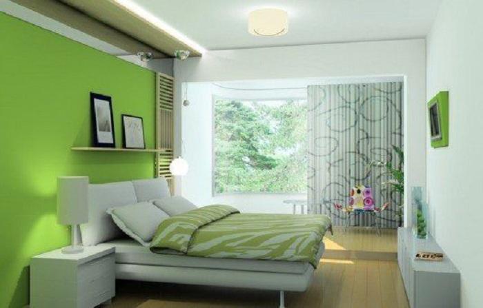 Прекрасный вариант создать яркую комнату в салатовом цвете, которая будет пропитана не просто хорошим настроением, но и наполнена массой положительных эмоций.
