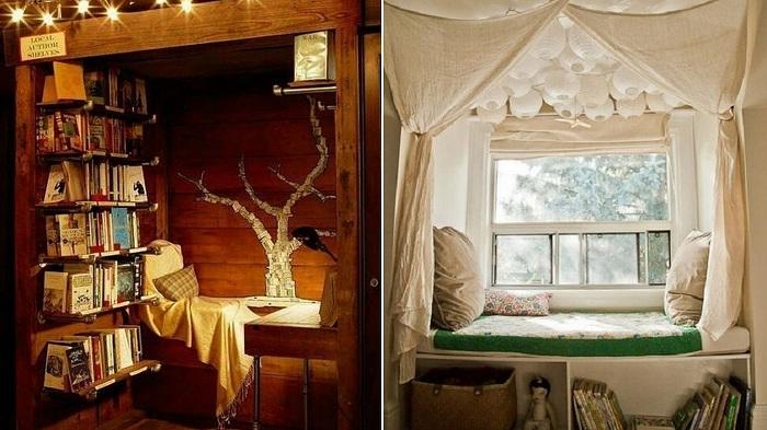 Интересные комнаты созданы специально для чтения книг.
