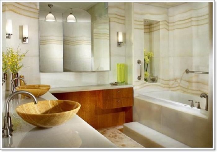 Прекрасный вариант оформления ванной комнаты в рустикальном стиле станет просто отменным для декора.
