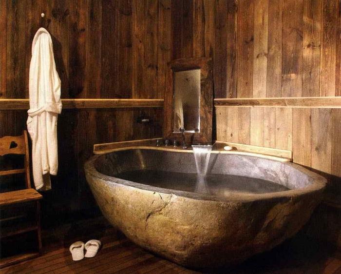 Оригинальная ванная в рустикальном стиле станет просто прекрасным дополнением для любого дома или квартиры.