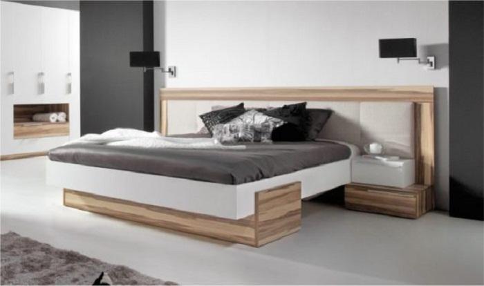 Крутое и оптимальное решение для декорирования спальни с оригинальной нишей.