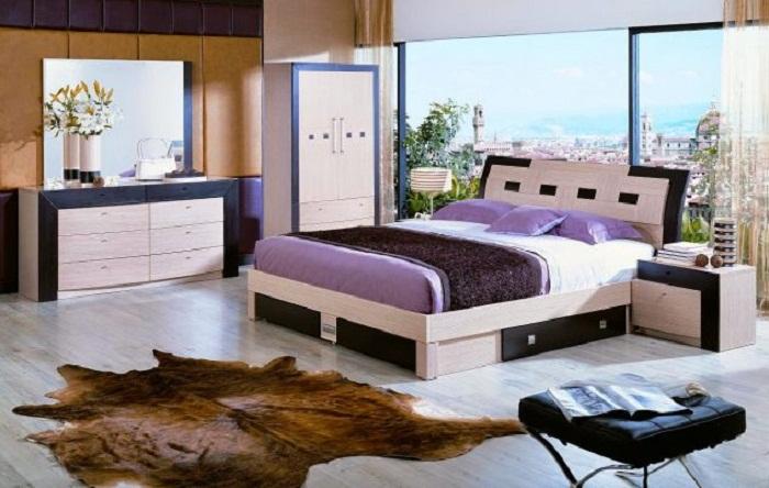 Пожалуй одно из самых лучших и удачных решений для декора спальни.