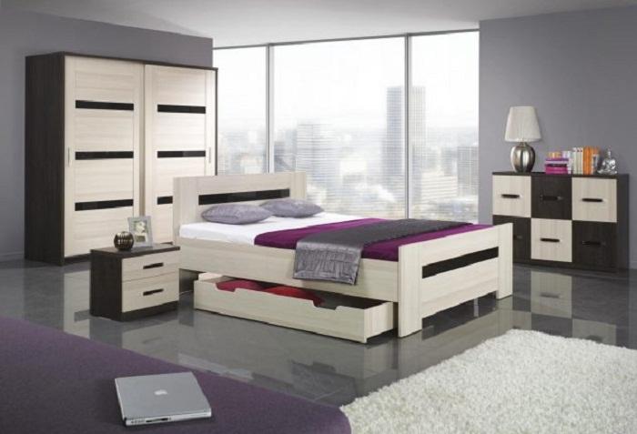 Милое и отменное решение разместить ниши под кроватью, что сэкономят пространство.