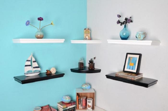 Декорирование угла комнаты, что станет просто отличным решением для видоизменения и преображения комнаты.