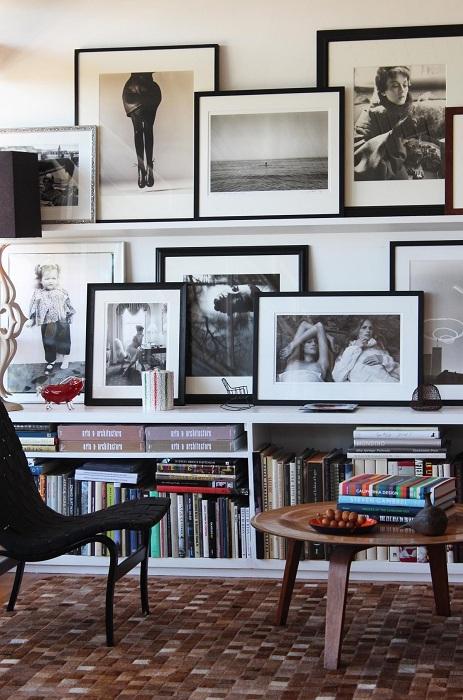 Домашняя фотогалерея в современном стиле.